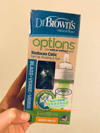 Dr Browns 玻璃 排氣奶樽 150ml #summer19
