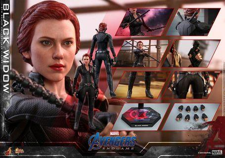 Black widow Endgame Hot Toys 會場訂單乙張