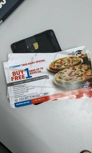 Domino's Pizza Buy 1 Free 1