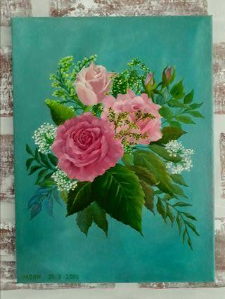 Bouquet of Roses oil painting