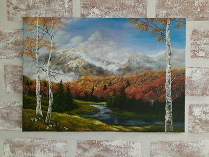 Reproduction of Artist Kevin Hill oil painting Autum