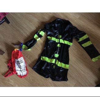 Sexy Firefighter Halloween Costume Medium