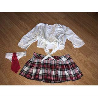 Sexy Schoolgirl Uniform Halloween costume XS