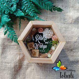 Ringbox wooden box tempat cincin