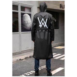 🚚 【暉長豪商行】艾倫沃克雨衣 L XL 2XL Fashion Raincoat 長款雨衣 一件式連身前開 通勤族 機車族 雨衣