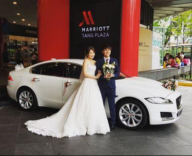 Prestigious Jaguar XF 20T Wedding Car Rental