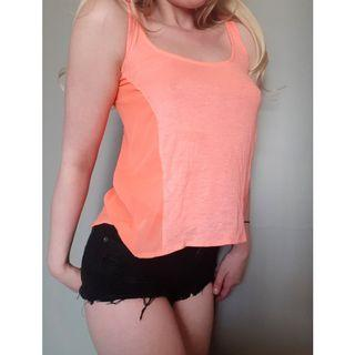 Sheer Cropped Tank Top Small