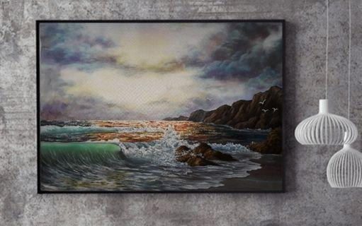 Reproduction of Artist Kevin Hill oil painting Seascape
