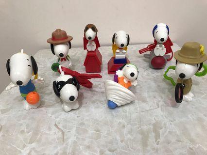 (麥當勞)2018 史諾比Snoopy公仔 8款