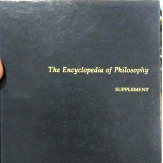 The Encyclopedia Of Philosophy Supplement Macmillan Reference USA Blue Cover