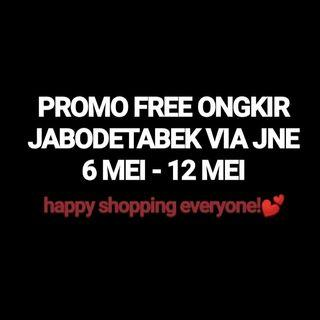 ALL ITEM FREE ONGKIR JABODETABEK & VIA JNE ONLY!!