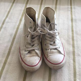 Converse high white shoes