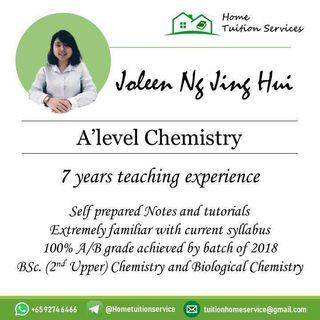 H2 Chemistry Guru offering home tuition!