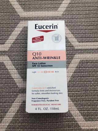 Eucerin Q10 anti-wrinkle face lotion SPF 15 sunscreen