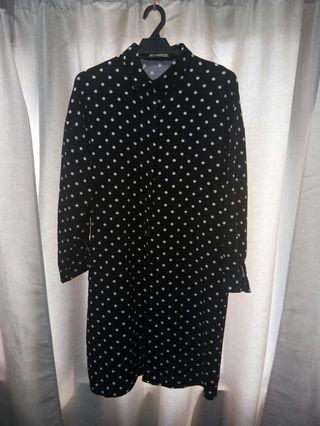 Long polka dot shirts