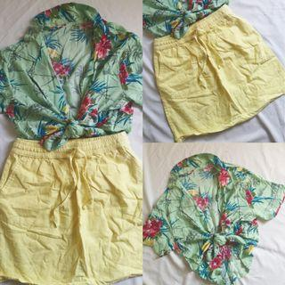 F21 Skirt and Tropical Top