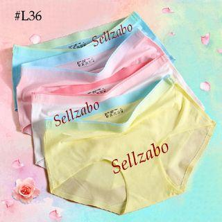 #L36 Summer Thin Panty : Size XL Cooling Under Pants Underwear Waist Ladies Girls Women Female Lady Lingerie Green Pink Colour Sellzabo 内裤