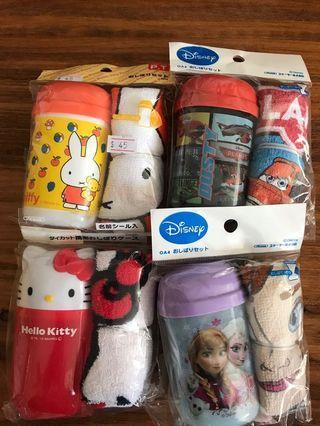 幼兒毛巾連盒正品每個特價$35 (包平郵)