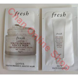 Fresh Lotus Youth Preserve Rescue Mask 4ml+ Soy Face Cleanser 4ml #summer19