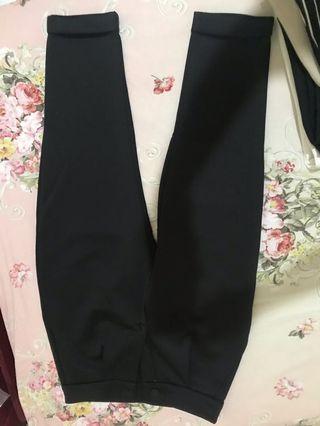 Celana panjang bahan hitam