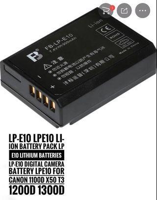 🚚 Canon DSLR LPE10 LI on Battery
