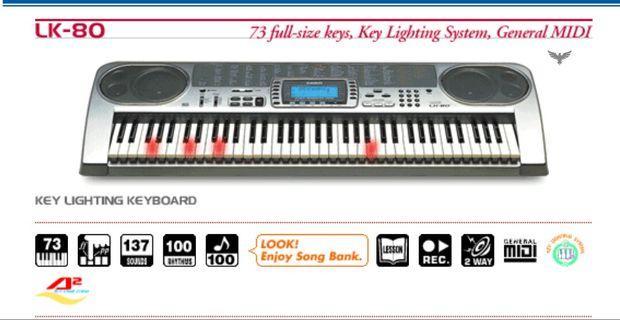 Casio 電子琴 LK80 日本製 操作正常