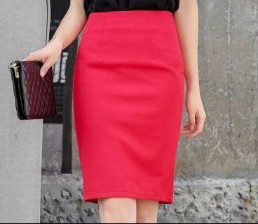 紅色 包臀裙