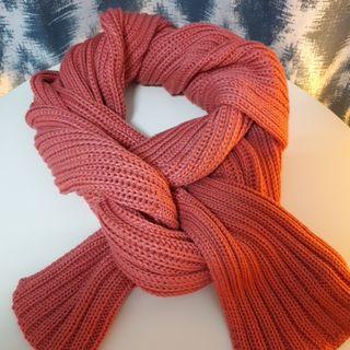 厚粗針長圍巾