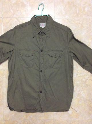 Buzz rickson hbt work shirt size 38 99%new