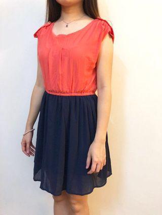 Korean Chiffon Dual Colour Dress #APR75 #OYOHOTEL