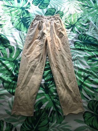 Paper bag cord pants