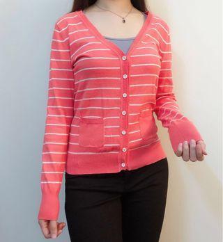 Peach Strip Premium Cardigan Outerwear Jacket #APR75 #OYOHOTEL