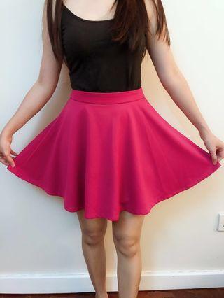 Padini Pink A Line Skater Skirt #APR75 #OYOHOTEL