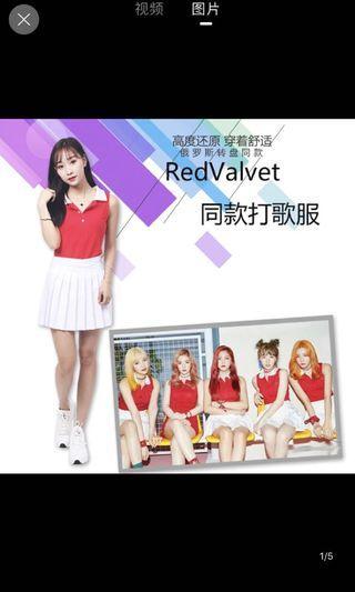 韓國女團redvelvet同款ds演出表演服裝啦啦隊服裝女學生韓版套裝