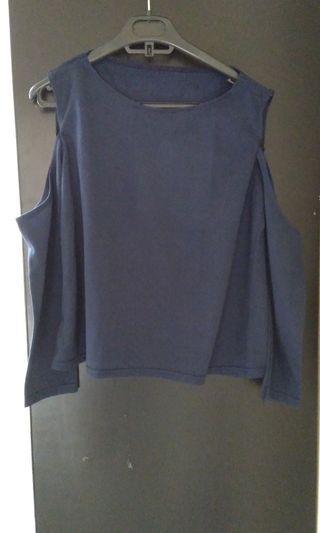 Blue top Off shoulder