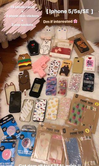 iPhone 5/5s/SE phone cases ( bundle )