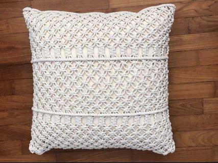 🚚 Macrame cushion cover + cushion