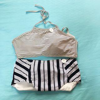 Cotton On Strip Halter Crop Swimwear/Swimsuit