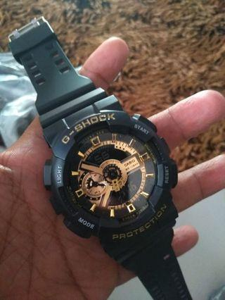 Jam G-Shock ga 110 black gold