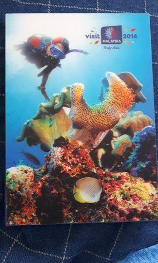 Visits Malaysia 2014 3D cover note book