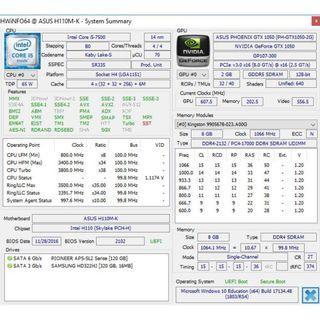 Intel i5-7500 8GB GTX1050 120GB+320GB+21.5 LED monitor