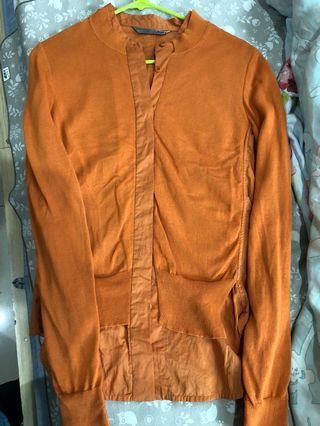 🚚 近新JNBY橘色襯衫