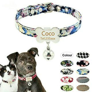[Pre-Order] Dog Cat Collar Personalized ID Collar and Bell Engrave