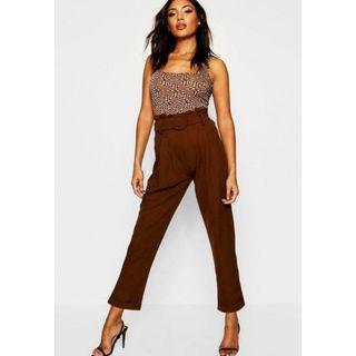 Brand New Paperbag Belted High Waist Pant
