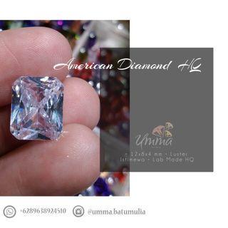 Batu Permata American Diamond Lab Made HQ Square