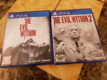 PS4 The Evil Within 1& 2