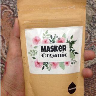 masker organic chocolate   / Masker organic coklat