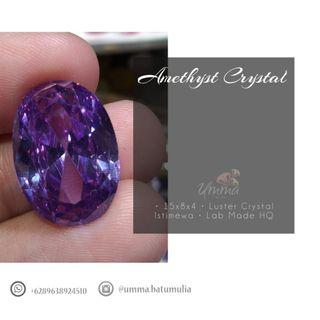 Batu Permata Amethyst Crystal Lab Made HQ