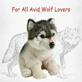 [Pre-Order] Real Life Simulation Cuddly Wolf Plush Toy