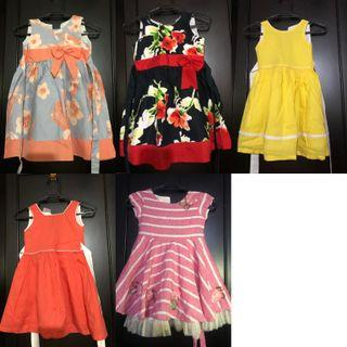 Cute dresses (set of 5)